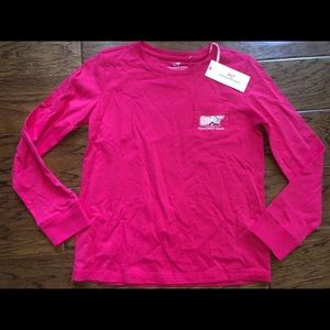 Vineyard Vines Girls Whale Valentine's Day Shirt M